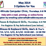 Free Computer Clinic in May